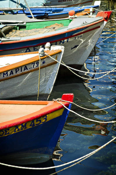 Photograph - Greek Fishing Boats by Meirion Matthias