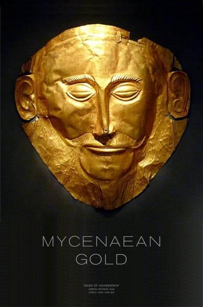 Macedonia Digital Art - Greek Gold - Mycenaean Gold by Helena Kay