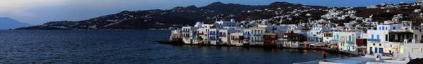 Wall Art - Photograph - Greek Island Of Mykonos At Dusk, South by Panoramic Images