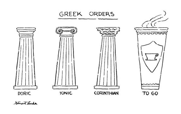4 Drawing - Greek Orders by Stuart Leeds