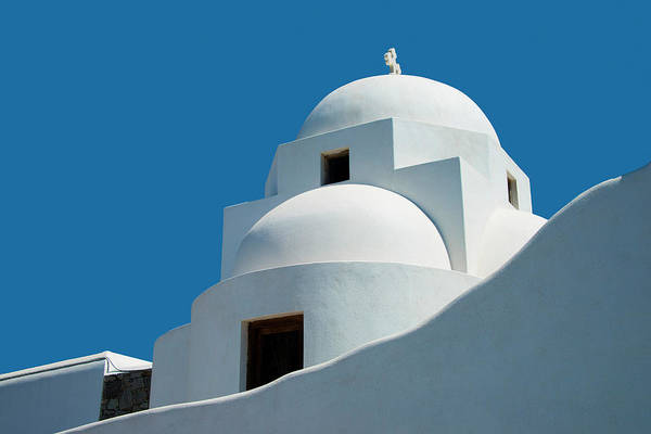 Photograph - Greek Orthdox Church In Mykonos by Ed Freeman
