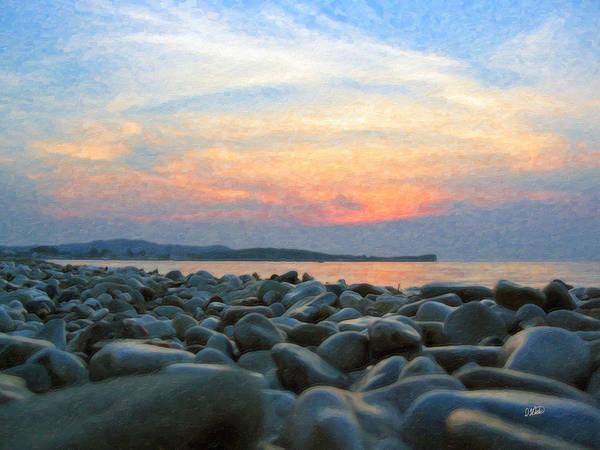 Painting - Greek Pebble Beach Grk1137 by Dean Wittle