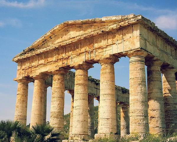 Ancient Greek Photograph - Greek Temple, Segesta by By Bruce Calder