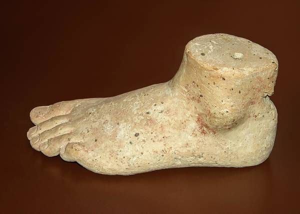 Heal Photograph - Greek Votive Foot by David Parker/science Photo Library