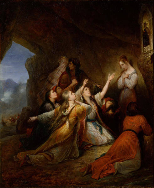 Assistance Painting - Greek Women Imploring At The Virgin Of Assistance by Ary Scheffer