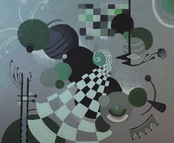 Coolidge Painting - Green Abstract by Sara Coolidge