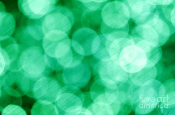 Wall Art - Photograph - Green Abstract by Tony Cordoza