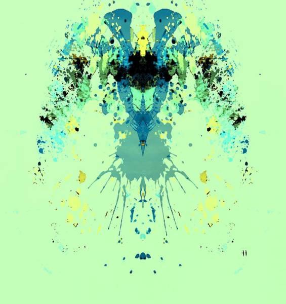 Divergence Digital Art - Green Alien by Dan Sproul