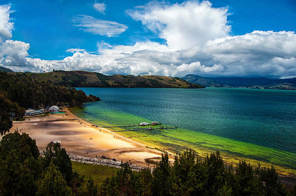 Boyaca Photograph - Green And Blue Lake by Jess Kraft