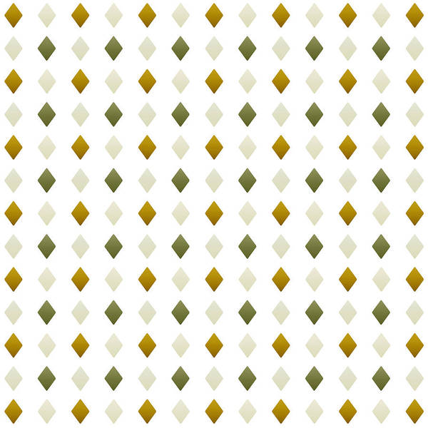 Mixed Media - Green And Gold Diamond Pattern by Christina Rollo