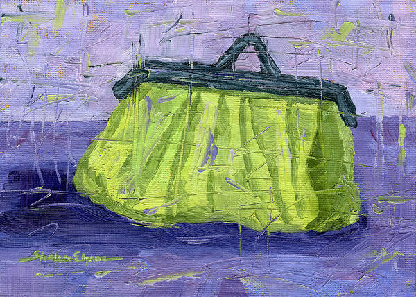 Painting - Green And Purple Purse Party by Shalece Elynne