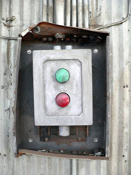 Photograph - Green And Red Switch by Jeff Lowe
