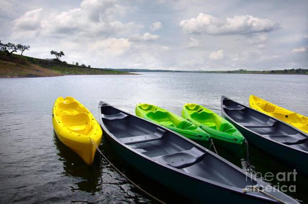 Wall Art - Photograph - Green And Yellow Kayaks by Carlos Caetano