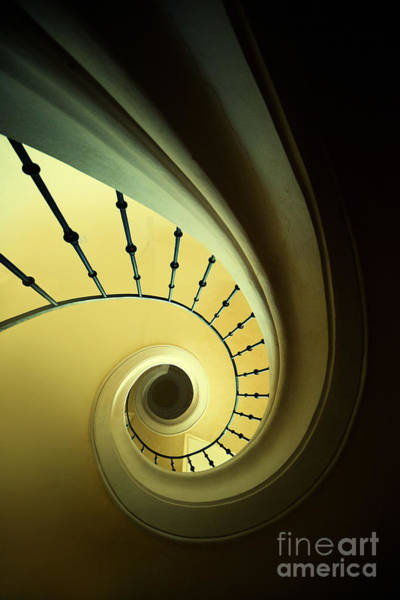 Photograph - Green And Yellow Spirals by Jaroslaw Blaminsky