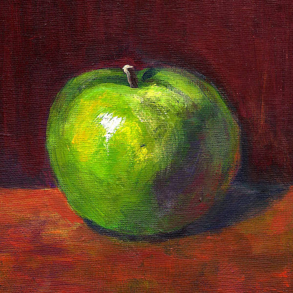Painting - Green Apple by Maxim Komissarchik