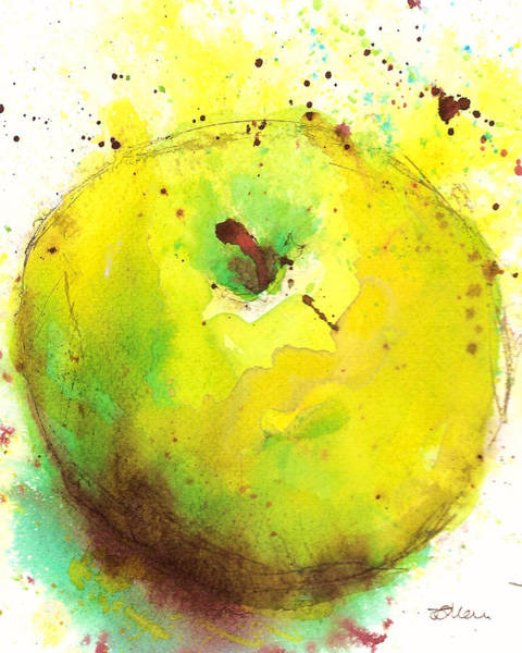 Painting - Green Apple by Tracy-Ann Marrison