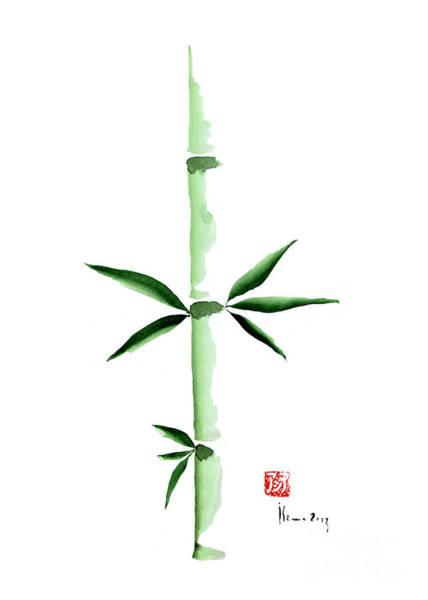 Bamboo Painting - Green Bamboo Plant Grass Bamboos Tribe Woody Watercolor Painting by Johana Szmerdt