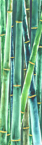 Wall Art - Painting - Green Bamboo by Rosemary Craig