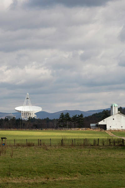 Us Bank Photograph - Green Bank Telescope And Farm Building by Jim West