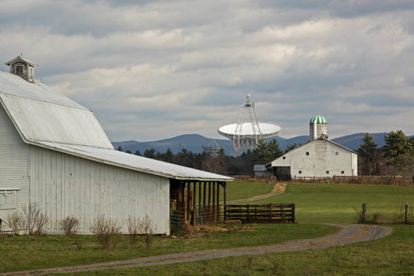 Us Bank Photograph - Green Bank Telescope And Farm Buildings by Jim West