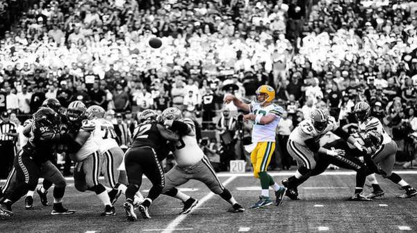 Wall Art - Digital Art - Green Bay Packers Aaron Rodgers by Brian Reaves