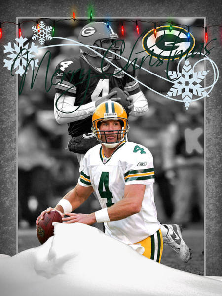 Brett Wall Art - Photograph - Green Bay Packers Christmas Card by Joe Hamilton