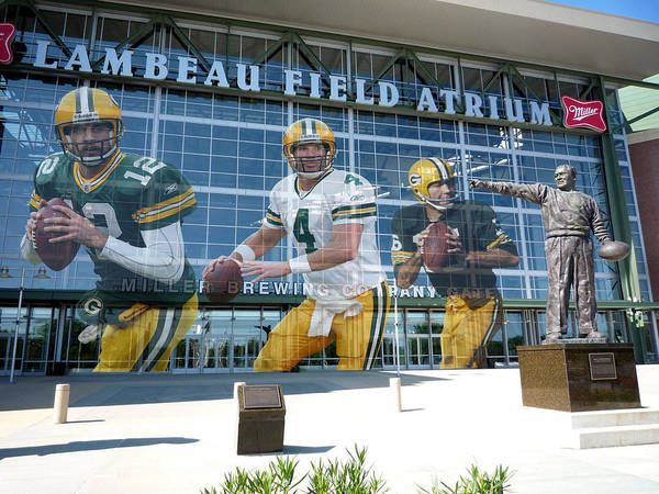 Green Grass Photograph - Green Bay Packers Lambeau Field by Joe Hamilton