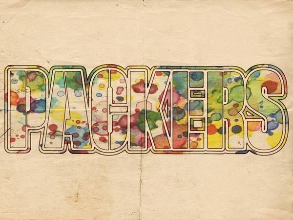 Painting - Green Bay Packers Logo Art by Florian Rodarte