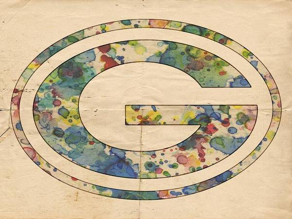 Painting - Green Bay Packers Poster Vintage by Florian Rodarte