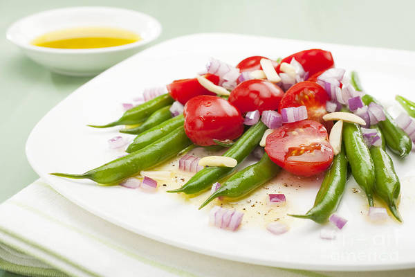Dressing Photograph - Green Bean And Tomato Salad by Colin and Linda McKie