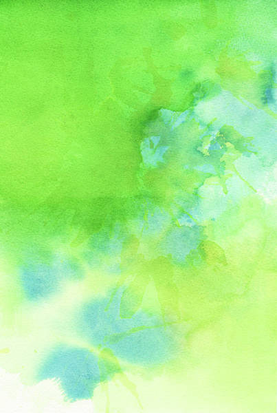 Wall Art - Photograph - Green Blue Background Abstract by Taice
