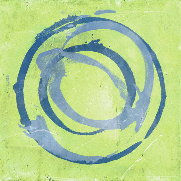 Circle Painting - Green Blue by Julie Niemela
