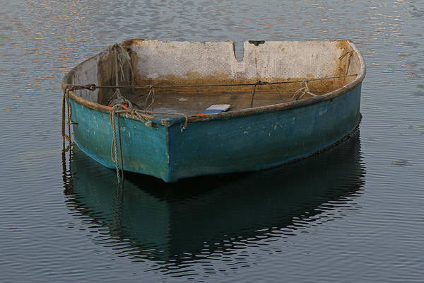 Photograph - Green Boat by Juergen Roth