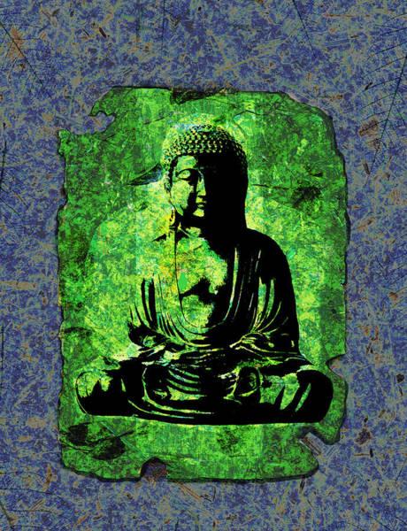 Mixed Media - Green Buddha by Peter Cutler