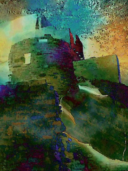 Digital Art - Green Castle by David Hansen