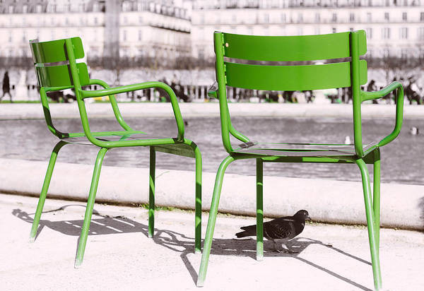 Jardin Des Tuileries Photograph - Green Chairs Tuileries by Pati Photography