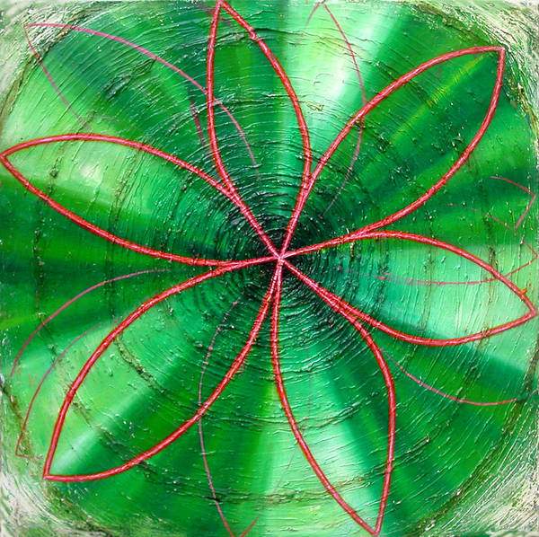 Painting - Green Chakra by Anne Cameron Cutri