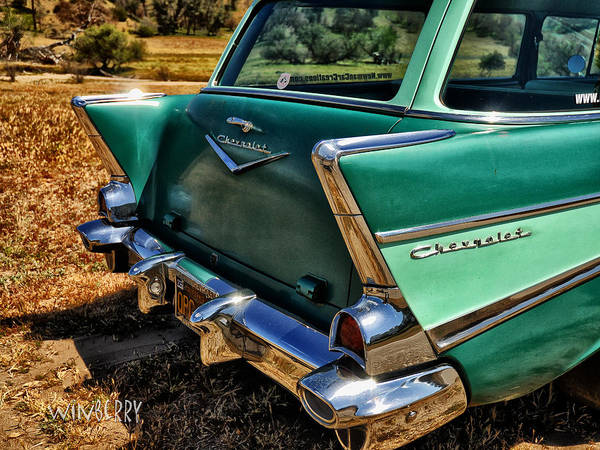 Digital Art - Green Chevrolet Fin by Bob Winberry