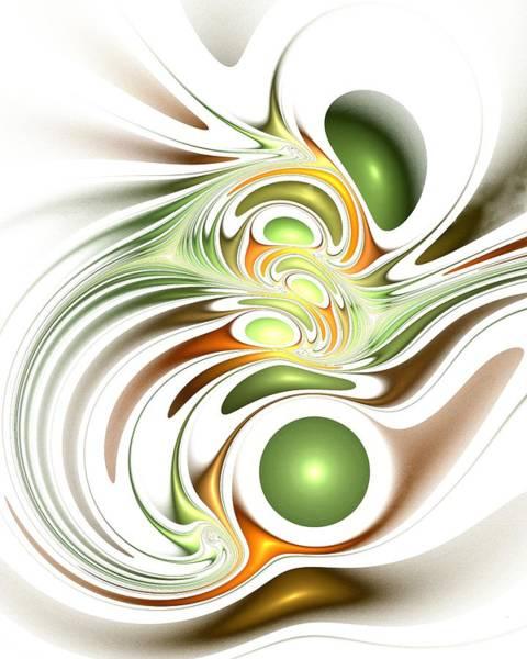 Digital Art - Green Creation by Anastasiya Malakhova
