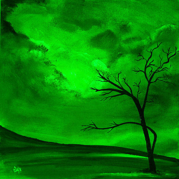 Kag Wall Art - Painting - Green Day by Gina Cooper