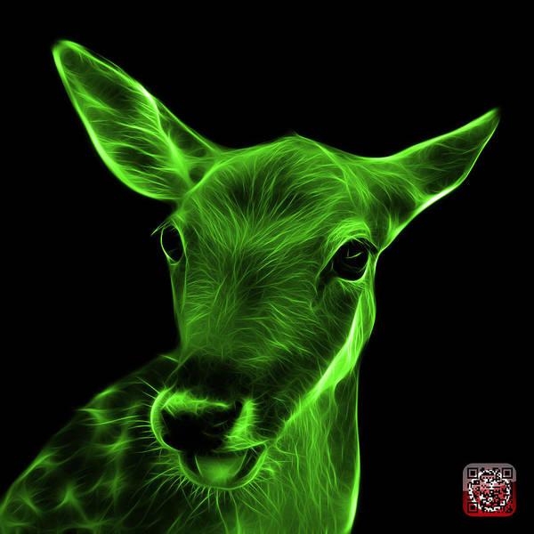 Digital Art - Green Deer - 0401 F by James Ahn