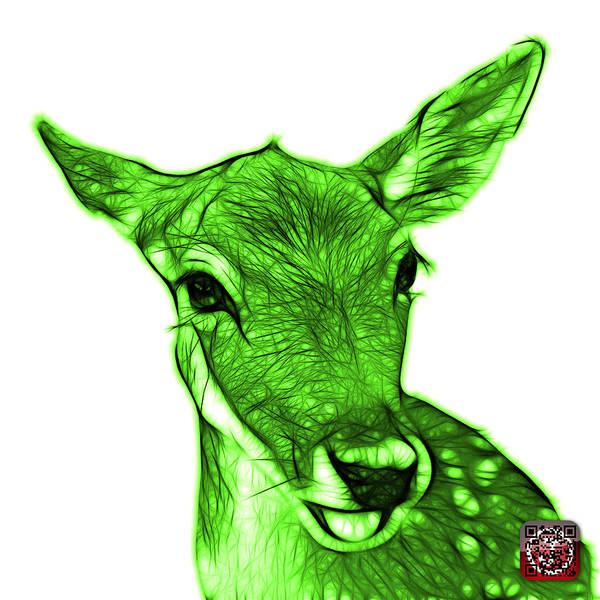Digital Art - Green Deer - 0401 Fs by James Ahn