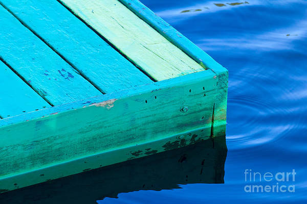 Photograph - Green Dock by Les Palenik