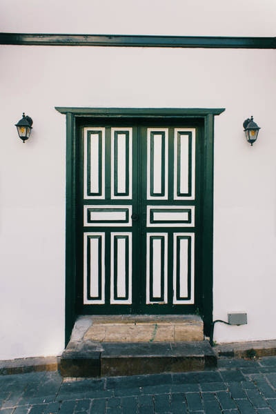 Village Gate Photograph - Green Door, Architecture Of Building by Tttuna