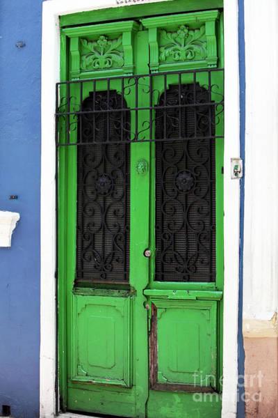 Photograph - Green Door In Bogota by John Rizzuto