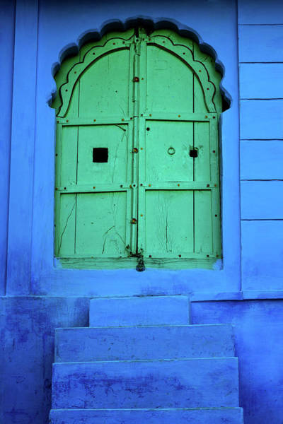 The Doors Wall Art - Photograph - Green Door In India by Nikada