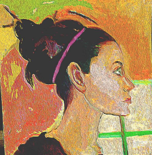 Wall Art - Painting - green Eyes by Noredin Morgan