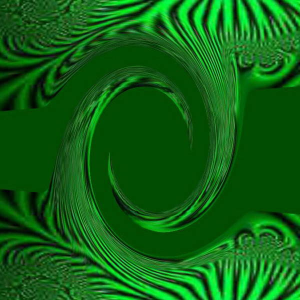 Digital Art - Green Fabric by Mary Russell