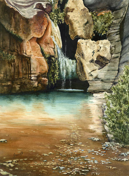 Painting - Green Falls II by Sam Sidders