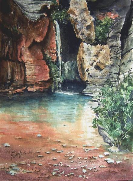 Painting - Green Falls by Sam Sidders